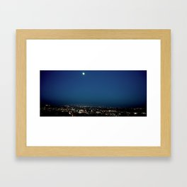 l.a. blur Framed Art Print