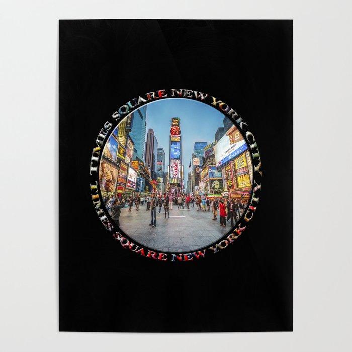 Times Square Sparkle (badge on black) Poster