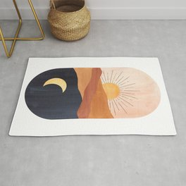 Abstract day and night Rug