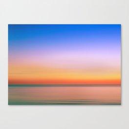 Rainbow Sunset Print Canvas Print