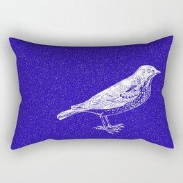 Blue Bird in the Snow Rectangular Pillow