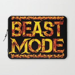 Beast Mode Fired Up Laptop Sleeve