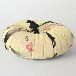 Asian Dragonfly Floor Pillow