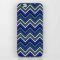preppy iPhone & iPod Skins featuring Preppy Chevron by Jolene Ink