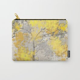 Abstract Yellow and Gray Trees Carry-All Pouch