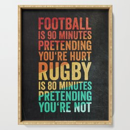 Funny Rugby Design Serving Tray