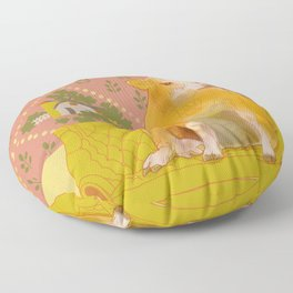 Farm Animals in Chairs #1 Cow Floor Pillow