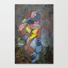 Fisherman Monkey Canvas Print