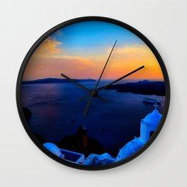 Santorini 26 Wall Clock