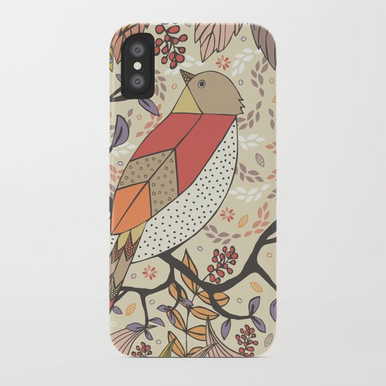 Singing Red Bird iPhone Case