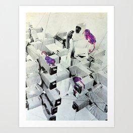Purple Monkeys Art Print