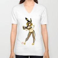 umbreon V-neck T-shirts featuring Umbreon (Jessica Nigri) by MaxGunner44