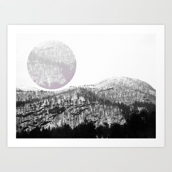 The Circle In The Mountains Art Print