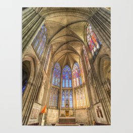 Troyes Cathedral Architecture Poster