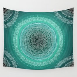 Realizing on Black Background Wall Tapestry