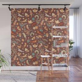 Autumn Geckos in light brown Wall Mural