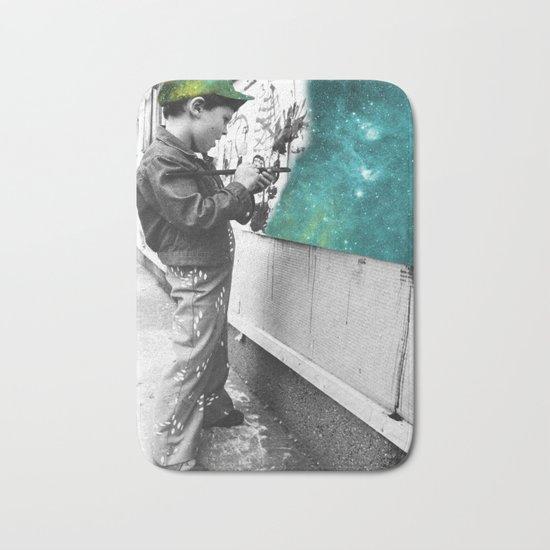 KID PAINTING THE UNIVERSE Bath Mat