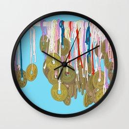 Lucky Five Yen Coins Wall Clock
