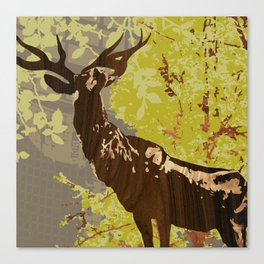 Elk with the Long Neck Statue, Portland Oregon Canvas Print