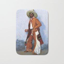 "Frederic Remington Western Art ""A Vaquero"" Bath Mat"