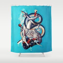 Heart of Illuminati Shower Curtain