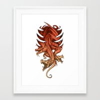 dragons Framed Art Prints featuring Dragons by sandara