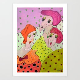 Here Come The Girls Art Print