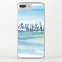 Vancouver British Columbia Canada Skyline and Blue Sky Clear iPhone Case