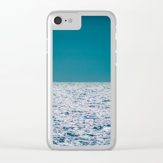The Ocean Kissing The Shoreline Clear iPhone Case