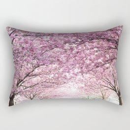 Sakura tree street Rectangular Pillow