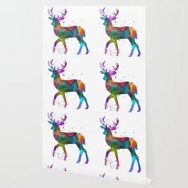 Watercolor Deer Wallpaper