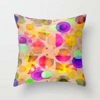 candy Throw Pillows featuring Candy by SensualPatterns