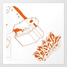 Orange Tech Art Print