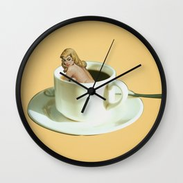 Her Name is Jo :) - yellow Wall Clock