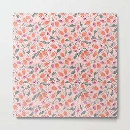 Flower Meadow - Pink Metal Print