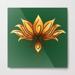 The yellow loto Metal Print