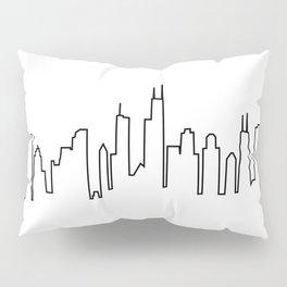 Chicago, Illinois City Skyline Pillow Sham