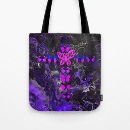 Purple Fire Cross Tote Bag