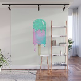Melty ice cream painting Wall Mural