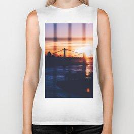 New York bridge Biker Tank