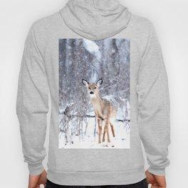 Deer In Snow Hoody