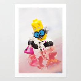 Experiment Gone Wrong - LEGO Art Print