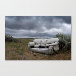 The End Times Sofa Canvas Print