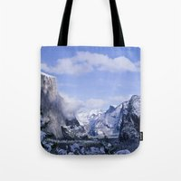 yosemite Tote Bags featuring Yosemite by Ian Bevington