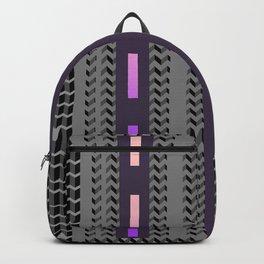 PURPLE PINK HERRING BONE DESIGN Backpack