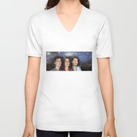 yankees V-neck T-shirts featuring THE THREE GREAT LADIES by Kaitlin Smith