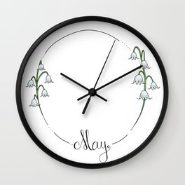 May - Flower Months  Wall Clock