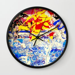 Abstract painting  - Sunset over The Sea Wall Clock