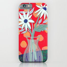 Daisies for You in Red iPhone Case