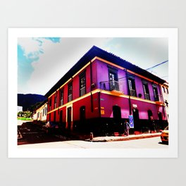 Colonial House Bogota Colombia Art Print
